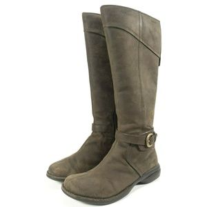 Merrell Waterproof Brown Leather Buckle Tall Boots